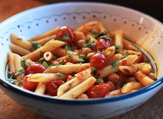 Penne Pasta With Cherry Tomatoes & Nduja - A spicy pasta for those who like it hot!