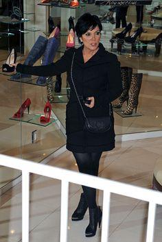 Kris Jenner. Black tights. Love