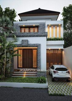 2 Storey House Design, Duplex House Design, House Front Design, Small House Design, Dream Home Design, Home Design Plans, Classic House Exterior, Dream House Exterior, Minimal House Design
