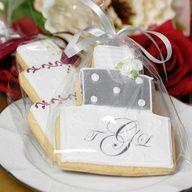 #Wedding Cake Cookies http://www.finditforweddings.com
