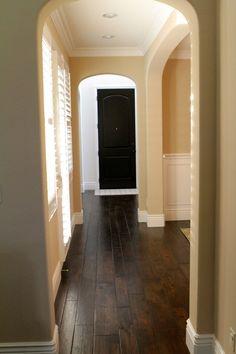 Love The Wide Dark Wood Floors In A Hallway Like The One I