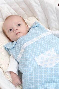 Andersen blue sleepsack (baby), by Trois Poules www.troispoules.com