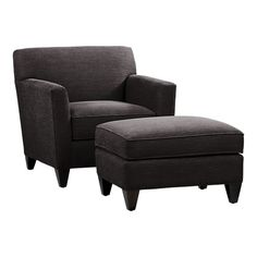 Crate & Barrel Hennessy armchair and ottoman.