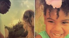 Beyonce shows off her vacation with Jay Z and precious daughter Blue Ivy. Beyonce shared her vacation video of her happy family dancing together to her many Instagram followers.