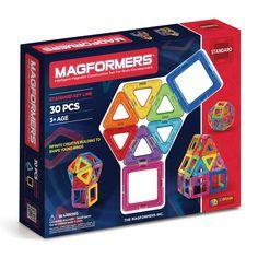 Byg uendelige mange forskellige figurer med de magnetiske trekanter og firkanter fra Magformers. Klik ind på Lirumlarumleg.dk og se vores store udvalg. - 399,95 kr.