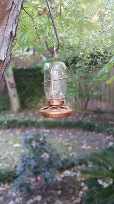 Bronze Mason Jar Bird Feeder by Jarabels on Etsy