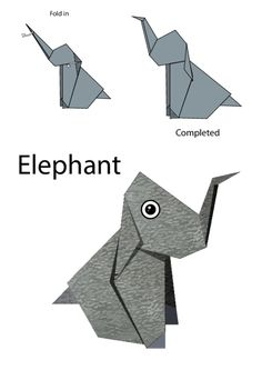 What puppet castle is complete without a heard of majestic elephants? Print this free easy origami set to let your child add