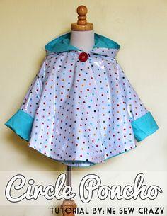 Circle Poncho {Cotton Laminate Tutorial}…
