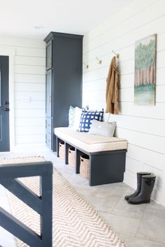 Today, I am sharing my mudroom. Half of the mudroom has been finished since we remodeled the house. We just finished the dog bed area last week. Having a handy husband is a blessing and a curse. He…