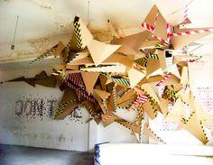 Cardboard Graffiti installation by Martin Bottget
