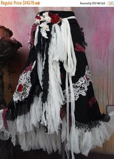 bohemian shabby wrap skirt by wildskin... super Gypsy chic
