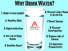 Why drink water? Helps to lose weight Healthy Skin Fights Infection Gets rid of Body Toxins Healthy Heart Prevent Joint Pains Arthritis Boost Energy Prevent Constipation Reduce Risk of Cancer Improves Productivity Benefits Of Drinking Water, Water Benefits, Health Benefits, Why Drink Water, Health And Wellness, Health Tips, Health Care, Health Facts, Nutrition Tips