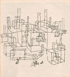 paul klee line drawing Paul Klee, Bauhaus, Line Drawing, Drawing Sketches, Painting & Drawing, Sketchbook Drawings, City Illustration, Architecture Drawings, Landscape Drawings