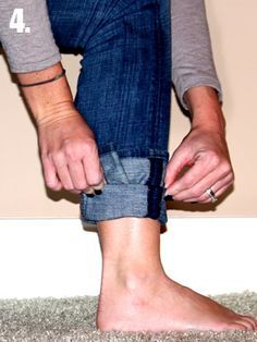 GENIUS!! How to tuck non-skinny jeans into boots. Finally getting them flat and not giving you fat ankles.