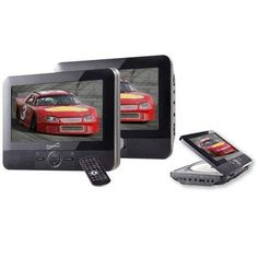 "Supersonic 7"" Dual Screen Dvd Player (sc-198) - by Supersonic. $142.95. 7"" Dual Screen DVD player with USB/SD inputs. 7"" screen display, play your movies and music in your car. Built in DVD compartment,Simply mount the screens to the headrests of the car. Dual screens allowyou to display the same video and images SD/USB input allow for external media connectivity."
