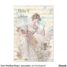 Fairy Wedding Theme - personalized 3.5x5 Paper Invitation Card