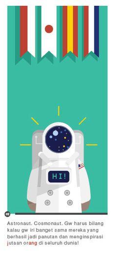 ASTRONAUTS! by Michael Alexander, via Behance