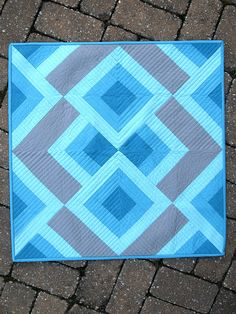 "Lovely colors and lovely design in this ""Raspberry Dessert"" mini-quilt by Julie Herman of Jaybird Quilts pattern. Julie's post about the pattern is here: http://www.jaybirdquilts.com/2011/03/raspberry-dessert.html, and the pattern can be found in her Skip The Borders book."
