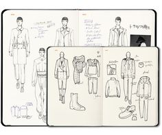 Thank you to Fantastic Man for this find... Fashionary has created this Men's sketchbook made for fashion-designers... It includes pages and pages of references that would benefit all men...