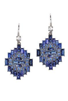 Nam Cho Blue Sapphire Earrings
