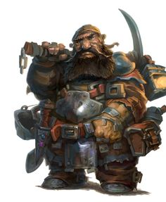 Male Dwarf Miner Fighter - Pathfinder 2E PFRPG DND D&D 3.5 5E 5th ed d20 fantasy Fantasy Dwarf, Fantasy Rpg, Dark Fantasy, Dungeons And Dragons Characters, Dnd Characters, Fantasy Characters, Dragon Fighter, Dwarf Fighter, Character Portraits