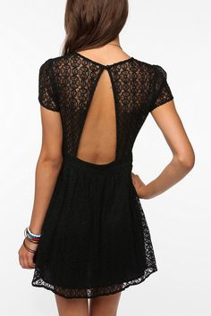 Pins and Needles Geometric Lace Dress  #UrbanOutfitters