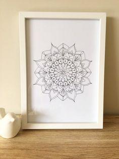 Mandala print A4 Home decor print wall art spiritual art   Etsy