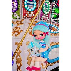 Etsy の carnival doll print aceo size CAROU SALLY by boopsiedaisy
