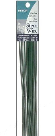 "Panacea™ Floral Stem Wire Painted Green 18 Gauge (240 pieces) 18"" long. $8.28     Regular price $11.88    240 pieces- 18 gauge    This price is for 12 packages with 20 wires in each."