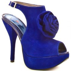 Crazy Blue High Heels | Posted by Heels Fans about three years ago