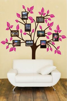 Family Tree Photo Wall large tree wall decal for photo pictures, family tree wall decal