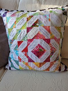Message Quilt Pillow
