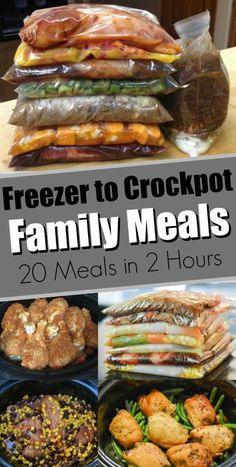 37 Easy Crock Pot Freezer Meals freezer to crockpot & Easy slow cooker recipes & family meals & freezer to slow cooker The post 37 Easy Crock Pot Freezer Meals & Yum! appeared first on Free . Slow Cooker Recipes Family, Slow Cooker Freezer Meals, Healthy Freezer Meals, Slow Cooker Desserts, Healthy Crockpot Recipes, Easy Meals, Freezer Recipes, Freezer To Crockpot Meals, Crock Pot Dump Meals