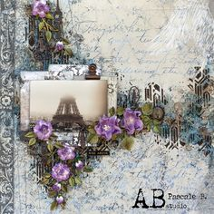 Scrap Made in Touraine: Rise Above - A. Scrapbooking, Scrapbook Cards, Scrapbook Layouts, Cottage Rose, Memory Album, Stamp, Rise Above, Making Memories, Layout Inspiration