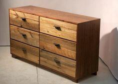 Measure Your Dresser Handles Carefully — Tom Adams Furniture Unfinished Wood Dresser, Reclaimed Wood Bedroom Furniture, Repurposed Furniture, Dresser Drawer Handles, Drawer Pulls And Knobs, Dresser Drawers, Dresser Ideas, Dressers, Adams Furniture