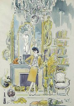 stilllifequickheart:        Cecil Beaton        Portrait of Coco Chanel in Her Salon        1920-40