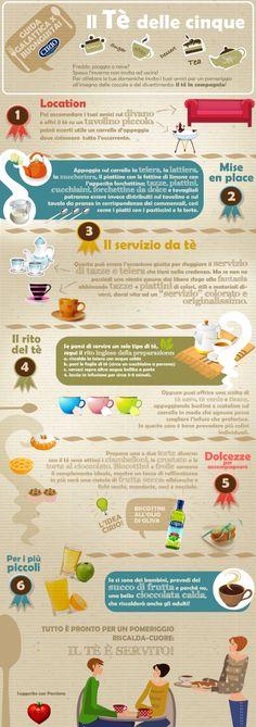 """""""Guida galattica per Buongustai"""" Cirio  Il Tè delle Cinque #tè #tea #infographic"""