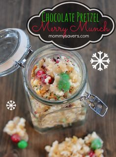 Christmas Chocolate Pretzel Popcorn Merry Munch - Buttery Holiday Treat #HolidayButter #shop #cbias