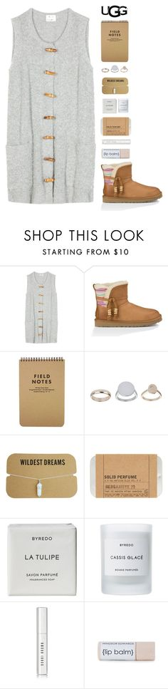 """""""Play With Prints In UGG: Contest Entry"""" by amazing-abby ❤ liked on Polyvore featuring Acne Studios, UGG Australia, Topshop, Le Labo, Byredo, Bobbi Brown Cosmetics and UGG"""