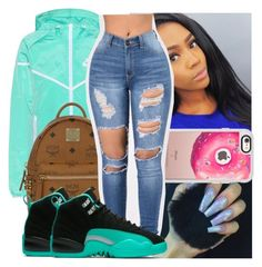 """"""""""" by kodakdej ❤ liked on Polyvore featuring NIKE, MCM and Casetify"""