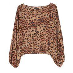 Rachel Zoe Bianca Animal Print Silk Blouse $198.00 #Rachel_Zoe #Blouse