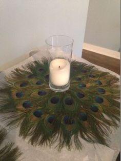 13 Peacock Feather Centerpieces $340