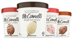 McConnell's Ice Cream. Packaging by Mark Oliver, Inc.