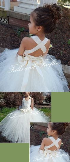 cute flower girl dress 2017, princess flower girl dress, wedding