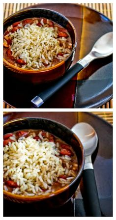Slow Cooker Louisiana-Style Red Beans and Rice from Kalyn's Kitchen has been hugely popular; PIN NOW so you can make this for a back-to-school dinner! [featured on SlowCookerFromScr...]