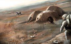 Бъдещите бази на Марс