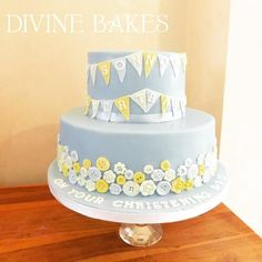 Buttons and bunting - Cake by Divine Bakes