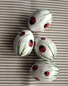 Items similar to a set of 4 white hand decorated Easter egg chicken ladybugs, traditional Slavic wax pinhead chicken eggs, pysanka on Etsy crafts ideas crafts crafts crafts Easter Eggs Kids, Easter Crafts For Kids, Summer Crafts, Fall Crafts, Christmas Crafts, Peek A Boo, Easter Egg Designs, Selling Handmade Items, Egg Art