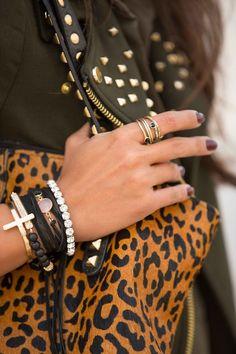 Studs + Leather + Leopard