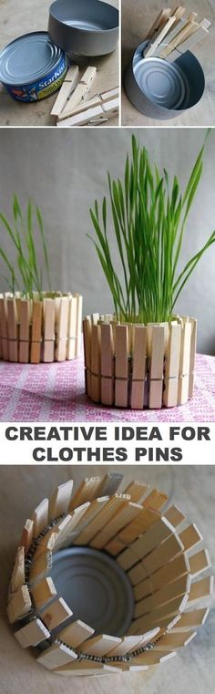 Cheap and easy project idea using clothes pins! -- Easy DIY craft ideas for adults for the home, for fun, for gifts, to sell and more! Some of these would be perfect for Christmas or other holidays. A lot of awesome projects here! Listotic.com